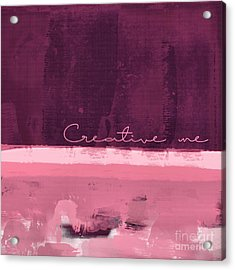 Minima - Creative Me - R01at55 - Pinks Acrylic Print by Variance Collections