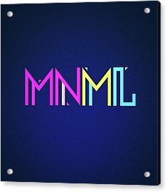 Minimal Type Colorful Edm Typography   Design Acrylic Print