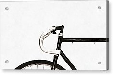 Minimalist Bicycle Painting Acrylic Print