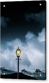Minimalist Cold Winter Lamppost Acrylic Print by Jorgo Photography - Wall Art Gallery