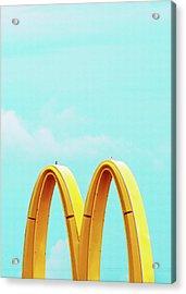 Minimalistic Mcdonald's Acrylic Print by Dylan Murphy