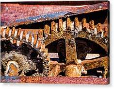 Acrylic Print featuring the photograph Mining Gears by Onyonet  Photo Studios