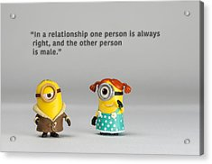 Minion Quote 17 Acrylic Print