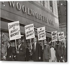 Ministers Picket F.w. Woolworth Store Acrylic Print