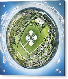 Acrylic Print featuring the photograph Miniwaukan Park Little Planet by Randy Scherkenbach