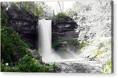 Minne Haha Falls Acrylic Print