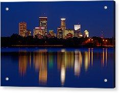 Minneapolis At Night Acrylic Print