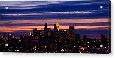 Minneapolis At Sundown Acrylic Print