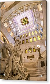 Minneapolis City Hall Rotunda, Father Of Waters Acrylic Print by Jim Hughes