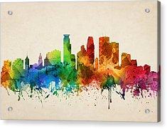 Minneapolis Minnesota Skyline 05 Acrylic Print