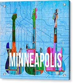 Minneapolis Music Scene Acrylic Print by Edward Fielding