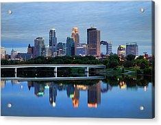 Minneapolis Reflections Acrylic Print by Rick Berk