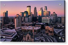 Minneapolis Skyline At Sunset Acrylic Print