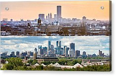 Minneapolis Skylines - Old And New Acrylic Print