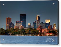 Minneapolis Skyline Photography Lake Calhoun Summer Evening Acrylic Print
