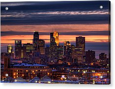 Minneapolis Skyline Acrylic Print by Shawn Everhart