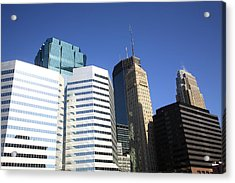 Acrylic Print featuring the photograph Minneapolis Skyscrapers 11 by Frank Romeo