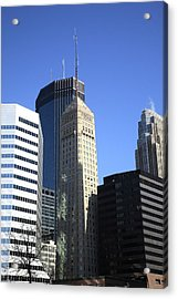 Acrylic Print featuring the photograph Minneapolis Skyscrapers 12 by Frank Romeo