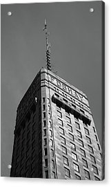 Acrylic Print featuring the photograph Minneapolis Tower 6 Bw by Frank Romeo