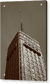 Acrylic Print featuring the photograph Minneapolis Tower 6 Sepia by Frank Romeo