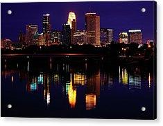 Minneapolis Twilight Acrylic Print by Rick Berk