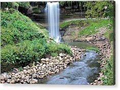 Minnehaha Falls Downstream Acrylic Print