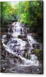 Minnehaha Falls Summer Acrylic Print by Francesa Miller