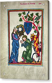 Minnesinger, 14th Century Acrylic Print by Granger