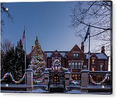 Acrylic Print featuring the photograph Christmas Lights Series #6 - Minnesota Governor's Mansion by Patti Deters