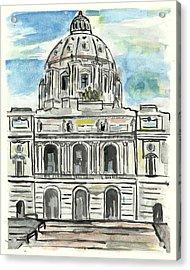 Minnesota State Capital Acrylic Print by Matt Gaudian