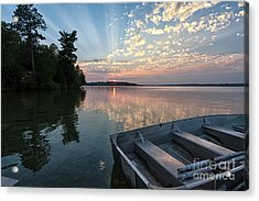 Minnesota Sunset At Deer Lake Acrylic Print