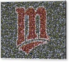 Minnesota Twins Baseball Mosaic Acrylic Print