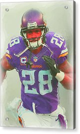 Minnesota Vikings Adrian Peterson 2 Acrylic Print by Joe Hamilton