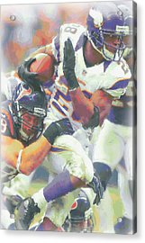 Minnesota Vikings Adrian Peterson 3 Acrylic Print by Joe Hamilton