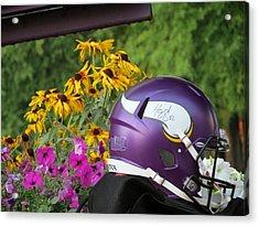 Minnesota Vikings Helmet Acrylic Print by Kyle West