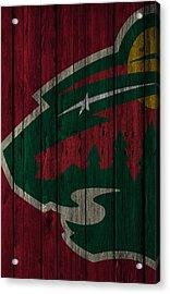 Minnesota Wild Wood Fence Acrylic Print by Joe Hamilton