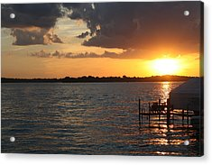 Minnetonka Sunset Acrylic Print by Noah Dachis