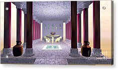 Minoan Temple Acrylic Print by Corey Ford