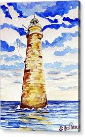 Minot Lighthouse Acrylic Print by Elaine Cummins