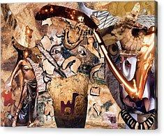 Minotauros Acrylic Print by Christoph Fuhrken