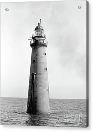 Acrylic Print featuring the photograph Minot's Ledge Lighthouse, Boston, Mass Vintage by Vintage