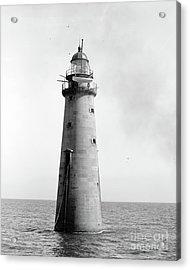 Minot's Ledge Lighthouse, Boston, Mass Vintage Acrylic Print
