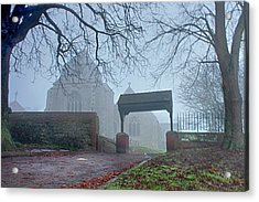 Minster Abbey Fog Bound Acrylic Print by Dave Godden