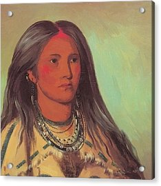 Mint A Mandan Girl 1832 Acrylic Print