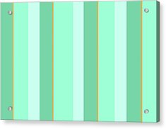 Acrylic Print featuring the mixed media Mint Green Stripe Pattern by Christina Rollo
