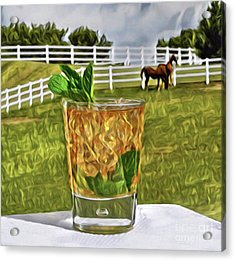 Mint Julep Kentucky Derby Acrylic Print
