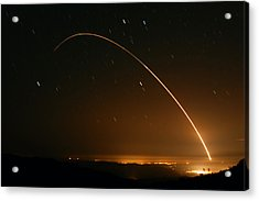 Minuteman IIi Launch April 2 2008 Acrylic Print by Brian Lockett