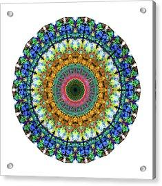 Miracle Mandala Art By Sharon Cummings Acrylic Print by Sharon Cummings