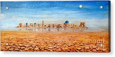 Acrylic Print featuring the painting Mirage City by Arturas Slapsys