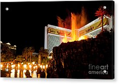 Mirage Volcano Acrylic Print by Andy Smy